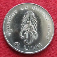 Thailand 1 Baht 1972 / 2515 Y# 97  Lt 341  Tailandia Thailande - Thaïlande