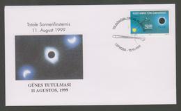 Turkish Cyprus Total Eclipse 1999 FDC - FDC & Commémoratifs