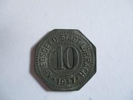 Germany: Kriegsgeld 10 Pfennig Lörrach 1917 - Noodgeld
