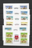 Portugal Booklet Panes Castles 1-6 - 1910-... Republic