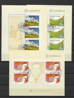 1983 Portugal Azoren Madeira Europa Sheets - 1910-... Republic