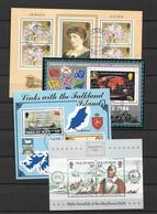 Jersey/Man 4 Blocks - Stamps
