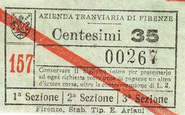 """"" AZIENDA TRANVIARIA DI FIRENZE.-"""" - Europa"