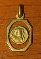 """Pendentif Médaille Religieuse Style Art Déco - Années 30 """"Saint Christophe Et Enfant Jésus"""" - Religious Medal - Religion & Esotérisme"""