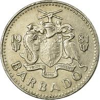 Monnaie, Barbados, 25 Cents, 1981, Franklin Mint, TB+, Copper-nickel, KM:13 - Barbades