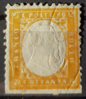 SARDINIA 1862 - MLH - Sc# 14 - 80c - Sardinia