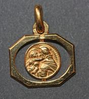 """Beau Pendentif Médaille Religieuse Années 30 Art Déco """" Saint Antoine Et Enfant Jésus"""" Religious Medal - Religion & Esotérisme"""
