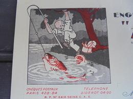 """LE POISSON - PARIS 12ème, 1951 - ENGINS DE PECHE """"KOSTOS"""" 2 RUE HECTOR-MALOT, ILLUSTREE - France"""