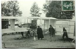 """2 CARTES - L'AÉROPLANE DE """"FARMAN"""" AU CAMP DE CHÂLONS - Aviateurs"""