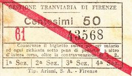 """"""""""" GESTIONE TRANVIARIA DI FIRENZE.-"""""""" - Europa"""