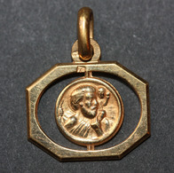 """Beau Pendentif Médaille Religieuse Années 30 Art Déco """" Saint Joseph Et Enfant Jésus"""" Religious Medal - Religion & Esotérisme"""