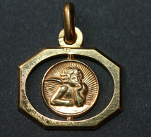 """Beau Pendentif Médaille Religieuse Années 30 Art Déco """" Ange De Raphaël"""" Religious Medal - Religion & Esotericism"""