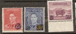 Australia  1941 SG 200-2 Overprints   Mounted Mint - Mint Stamps