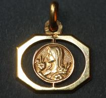 """Beau Pendentif Médaille Religieuse Années 30 Art Déco """"Sainte Marie"""" Religious Medal - Religion & Esotérisme"""