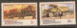 Christmas Islands  1990  SG 288-92  Mining Transport  Unmounted Mint - Christmas Island