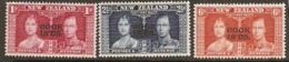 Cook  Islands  1937  SG 124-6 Coronation   Mounted Mint - Cook Islands