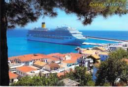 PAQUEBOT Liner Cruise  - COSTA FORTUNA En Escale à KATAKOLON ( Grèce Greece Griecheland ) CPM GF - Ship - Steamers