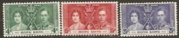 Hong Kong  1937    SG 137-9  Coronation   Mounted Mint - Hong Kong (...-1997)