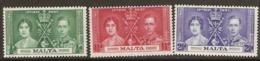 Malta  1937 SG 214  Coronation  Mounted Mint - Malte