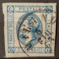 ITALIA / ITALY 1863 - Canceled - Sc# 23 - 15c - 1861-78 Victor Emmanuel II.