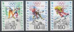 [807732]TB//**/Mnh-Liechtenstein 1991, Jeux Olympiques D'hiver D'Albertville (France), SC, 3,10CHF - Hiver 1992: Albertville