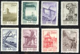 China - People's Republic Sc# 214-221 Unused 1954 Economic Progress - Unused Stamps