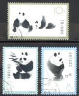 China - People's Republic Sc# 708-710 Used 1963 Pandas - 1949 - ... People's Republic