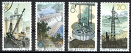 China - People's Republic Sc# 806-809 Used 1964 Hsin An Kiang Dam - 1949 - ... People's Republic