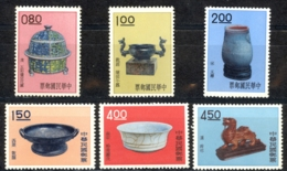China, Republic Sc# 1296-1301 MNH 1961 Ancient Art Treasures - Unused Stamps