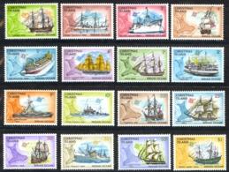 Christmas Island Sc# 39-54 MNH 1972-1973 Ships & Map - Christmas Island
