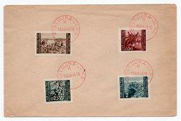 15.08.1945. YUGOSLAVIA, SLOVENIA, POSTOJNA-JAMA, CAVE, RED CANCELATION, ISTRIA - Cartas