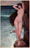 ÉROTISME / SEXY / FEMME NUE / NAKED WOMAN : ANDROMEDA Par PH. J. THORNHILL - HANFSTAENGL... ~ 1910 (ac812) - Tableaux