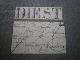 Carte Sur Toile De Diest 1/40.000 Dimensions 80 X 50 Cm - Cartes Topographiques