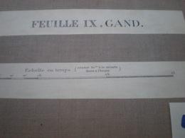 Carte Sur Toile De Gand 1/40.000 Dimensions 52 X 44 Cm Année 1912 - Cartes Topographiques
