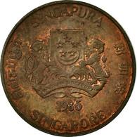 Monnaie, Singapour, Cent, 1986, British Royal Mint, TTB, Bronze, KM:49 - Singapore