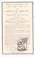 DP Adolf De Munter ° Lede 1867 † 1941 X P. De Geyter Xx M. De Prez - Imágenes Religiosas