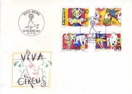 Svizzera 1992 - FDC Il Circo, I Clowns - FDC