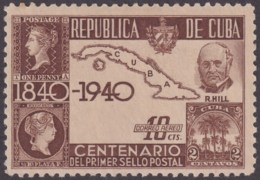 1940-283 CUBA REPUBLICA 1940 Ed.342. CENTENARIO DEL PENNY BLACK, ROWLAND HILL. MH. - Cuba