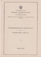 1948-235 CUBA REPUBLICA 1948 Ed.400. HF AIR MAIL CONVENTION, PENNY BLACK HF. MANCHAS. - Cuba