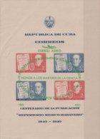 1951-336 CUBA REPUBLICA 1951 Ed.455. HF AIR REPERTORIO MEDICO SURCHARGE. FINLAY YELLOW FEVER MEDICINE. DEFECTO BORDE - Cuba