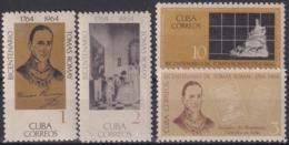 1964.148 CUBA 1964. Ed.1148-51. TOMAS ROMAY MEDICINE. LIGERAS MANCHAS. - Cuba