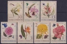 1965.128 CUBA 1965. Ed.1203-09. FLORES, FLOWERS, ORCHILD, ORQUIDEAS. LIGERAS MANCHAS. - Cuba