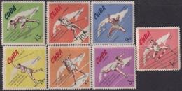 1965.129 CUBA 1965. Ed.1271-77. CAMPEONATO INTERNACIONAL DE ATLETISMO, ATHLETISM. LIGERAS MANCHAS EN ALGUN SELLO. - Cuba