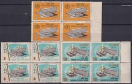 1966.129 CUBA 1966. Ed.1339-41. NUEVO EDIFICIO DE LA OMS, MEDICINE, MEDICINA. BLOCK 4.  LIGERAS MANCHAS. - Cuba