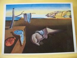B21 5017 CPM - SALVADOR DALI. ZERRINNENDE ZEIT (1931) PERSISTENCE OF MEMORY. PERSISTANCE DE LA MEMOIRE. MUSEE NEW YORK. - Pittura & Quadri