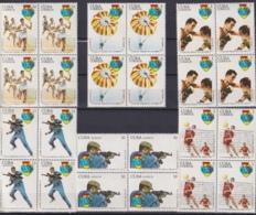 1977.88 CUBA 1977 Ed.2409-14 MNH IV ESPARTAQUIADAS, MILITAR GAMES SHOOTER, PARACHUTE. BLOCK 4. - Cuba