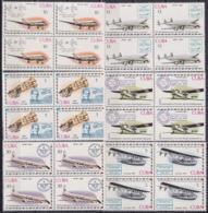 1977.92 CUBA 1977 Ed.2416-21 MNH 50 ANIV CORREO AEREO INTERNACIONAL, AIRPLANE AVION, FIRST FLIGHT BLOCK 4. - Cuba