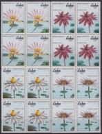 1979.104 CUBA 1979 Ed.2547-50 MNH FLORES ACUATICAS, SEA FLOWERS. BLOCK 4. - Cuba