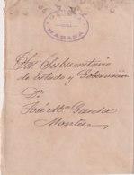 1898-H-86 CUBA SPAIN. OFFICIAL MAIL COVER. NEWSPAPER GACETA DE LA HABANA - Cuba