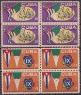 1965.136 CUBA 1965. Ed.1199-00. ARGELIA ALGERIE FESTIVAL. BLOCK 4. LIGERAS MANCHAS. - Cuba